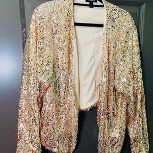 Rose gold Sequin Blazer
